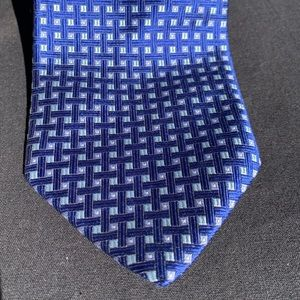 Brooks Brothers Makers blue silk tie